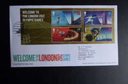 GREAT BRITAIN [UK] SG YEAR  2012 WELCOME TO LONDON 2012 OLYMPIC GAMES MS FDC - FDC