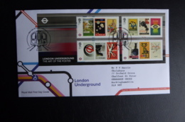 GREAT BRITAIN [UK] SG YEAR  2013 LONDON UNDERGROUND MS FDC - FDC