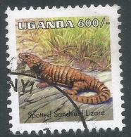 Uganda. 1995 Reptiles. 600/- Used. SG 1520a - Uganda (1962-...)
