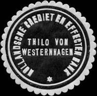 Amsterdam/Holland: Hollandsche Credit En Effecten Bank Thilo Von Westernhagen Siegelmarke - Cinderellas