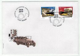 Suisse//Schweiz//Svizerra // Switzerland// FDC 2019 //  100 Ans Car Postal Suisse - FDC
