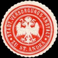 St. Andrä: Stadt. Versorgungs-Anstalt Zu St. Andrä Siegelmarke - Cinderellas