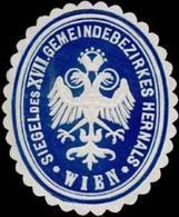Wien: Siegel Des XVII. Gemeindebezirkes Hernals Wien Siegelmarke - Erinnofilie