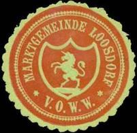 Loosdorf: Marktgemeinde Loosdorf V.O.W.W. Siegelmarke - Cinderellas