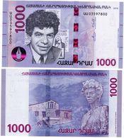 Armenie ARMENIA Billet 1000 DRAM 2018 NEW NOUVEAU Paruyr Sevak POETE NEUF UNC - Armenia