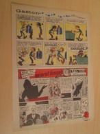 SPI19 SPIROU ANNEES 50/60 1 PAGE : BD PUBLICITAIRE L'ALSACIENNE CEUX DU CHATEAU MENENT L'ENQUETE - Figurines