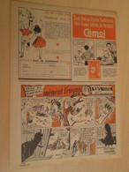 SPI19 SPIROU ANNEES 50/60 1 PAGE : BD PUBLICITAIRE L'ALSACIENNE CEUX DU CHATEAU MENENT L'ENQUETE - Figurillas