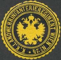 Wien: K.K. Landwehrinfanterieregiment Wien No. 42 Siegelmarke - Erinnophilie