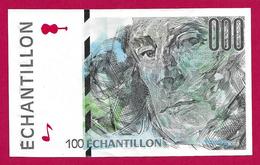 Billet Factice De La Banque De France - Coupure De 100 Francs - Type Paul Cézanne - Specimen