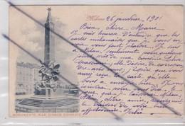 Italie ; Milano (Milan) Monumento Alle Cinque Giornate(carte Précurseur De 1901) - Milano (Milan)