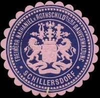 Schillersdorf: Freiherr Nathaniel Von Rothschildsche Bauverwaltung Schillersdorf Siegelmarke - Erinnofilie