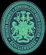 Schillersdorf: Freiherr Nathaniel Von Rothschildsche Güter-Direction Schillersdorf Siegelmarke - Erinnofilie