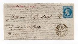!!! PRIX FIXE : BALLON MONTE LA VILLE DE CHATEAUDUN CERTAIN POUR DINARD, BON TEXTE - Guerra De 1870