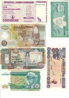 Africa Lot 6 Banknotes UNC .C3. - Billets