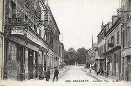 CARTE POSTALE ORIGINALE ANCIENNE : MEUDON BELLEVUE GRANDE RUE ANIMEE HAUTS DE SEINE (92) - Meudon