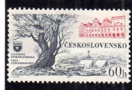 CZECHOSLOVAKIA CESKOSLOVENSKO CECOSLOVACCHIA 1964 TOURISM AUTOMOBILE CAMP VISIT 60h MNH - Cecoslovacchia