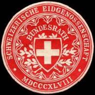 Schweiz: Schweizerische Eidgenossenschaft - Bundesrath Siegelmarke - Cinderellas