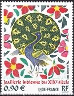 FRANCE Poste 3630 ** MNH Tableau Emission Commune Conjointe INDE Enluminure Joaillerie Bijou Paon - Unused Stamps