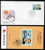 South Korea 2 Fdc.s From 1991 And 1 Fdc 1993 President All With Folders. - Corea Del Sur
