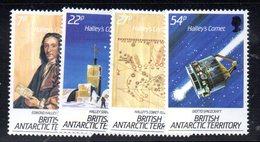 XP5008 - BAT ANTARTICO INGLESE 1986 , Serie Yvert N. 152/155  ***  Halley - Territorio Antartico Britannico  (BAT)