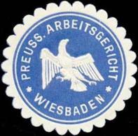 Wiesbaden: Preuss. Arbeitsgericht Wiesbaden Siegelmarke - Cinderellas