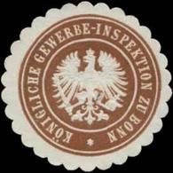 Bonn: Königliche Gewerbe-Inspektion Zu Bonn Siegelmarke - Cinderellas
