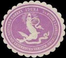 Halle/S.: Iduna-Lebens-Pensions- Und Leibrenten-Versicherungs-Gesellschaft A.G. Siegelmarke - Cinderellas
