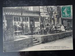 SAINT ANDRE D' HEBERTOT :  CAFE ET TERRASSE DE LA MAISON AMSLER - DEBIT DE TABAC - France