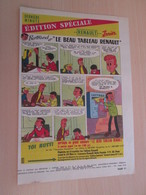 "SPI19 SPIROU ANNEES 50/60 1 PAGE : PUBLICITE VOITURES RENAULT ""LE BEAU TABLEAU RENAULT"" - Cars"