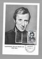 Carte Maximum 1957 Lamennais - Cartes-Maximum