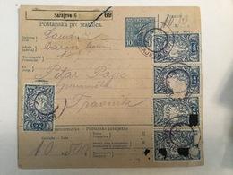 KINDOM OF SHS  KRALJEVINA SRBA HRVATA I SLOVENACA  1919.  SLOVENIAN STAMPS 2 KRUNE + MIX FRANK SLOVENIA - BOSNIA - Slowenien