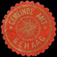 Gehaag: Gemeinde Amt Gehaag Siegelmarke - Erinnofilia
