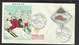 Monaco JO 1964  Innsbruck  FDC  Bobsleigh - Winter 1964: Innsbruck