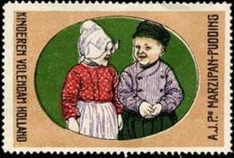 Kinderen Volendam Holland Reklamemarke - Cinderellas