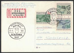 YN536  Germany 1971 Special Postmark International Day Of The Milk - Journée Internationale Du Lait, Int.Tag Der Milch - Alimentación