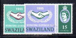 CI659 - SWAZILAND 1965 , Serie Yvert N. 116/117  ***  Cooperazione - Swaziland (...-1967)