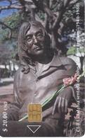111 TARJETA DE CUBA DE ESTATUA DE JOHN LENNON CHIP I-4 - Cuba