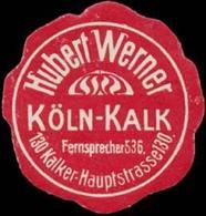 Köln-Kalk: Hubert Werner Reklamemarke - Cinderellas
