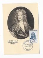 Carte Maximum 1957 Newton Issac - 1950-59