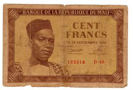MALI AFRIQUE Billet 100 Francs 22/09/ 1960 P2 PREMIER PRESIDENT MODIBO KEITA - Mali