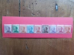 REGNO - Posta Ordinaria 9 Valori Differenti Nuovi ** + Spese Postali - 1900-44 Victor Emmanuel III