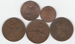 Lot De 5 Bronzes Français - France