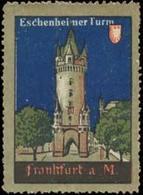 Frankfurt/M.: Eschenheimer Turm Reklamemarke - Cinderellas
