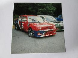 PHOTO   PEUGEOT   309  TROPHEE    JEAN CLAUDE  LAGNIEZ     88   9X9 - Automobiles