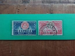COLONIE ITALIANE - LIBIA - Espressi Nn. 3/4 Timbrati + Spese Postali - Libia