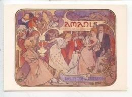 Alphonse Mucha  Amants 1895 (éd A. M. Cp Vierge) Comédie M. Donnay Théâtre De La Renaissance - Mucha, Alphonse