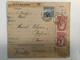 KINDOM OF SHS  KRALJEVINA SRBA HRVATA I SLOVENACA    SLOVENIAN STAMPS 2 X 5 KRUNA + 20 VINARA + 60 - Slowenien