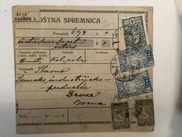 KINDOM OF SHS  KRALJEVINA SRBA HRVATA I SLOVENACA    SLOVENIAN STAMPS 2 X 2 KRUNE + 4 DINARA + 2 X 5 PARA - Slowenien