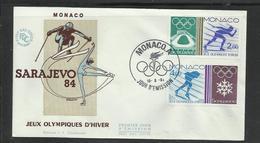 Monaco JO 1984 Sarajevo  FDC Course Sur Glace   Ref 17 - Winter 1984: Sarajevo