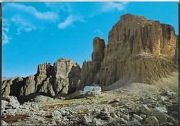 DOLOMITI - RIFUGIO CAVAZZA AL PISCIADU - OIZ DE LEC - TIMBRO DEL RIFUGIO - NUOVA SCRITTA AL RETRO - Alpinisme